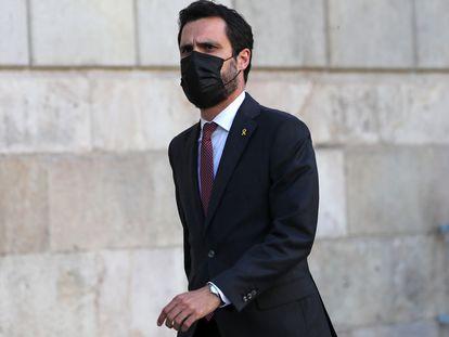 El expresidente del Parlamento de Cataluña, Roger Torrent.