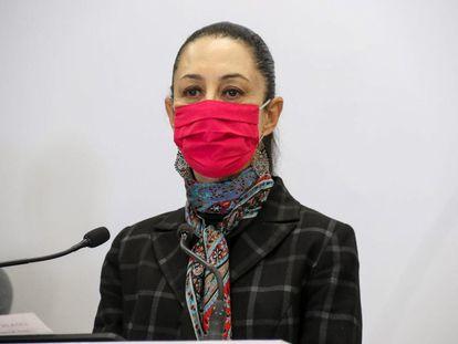 Claudia Sheinbaum durante una conferencia matutina en la Ciudad de México