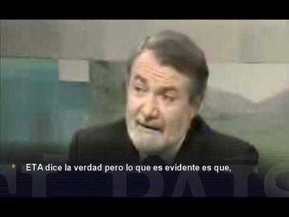 """Mayor Oreja: """"ETA mata pero no miente"""""""