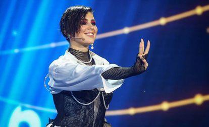 La cantante Anna Korsun, conocida como Maruv, durante su actuación en la final para decidir la representación de Ucrania en Eurovisión, el 23 de febrero.