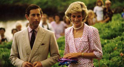 Los príncipes de Gales en Hawái.