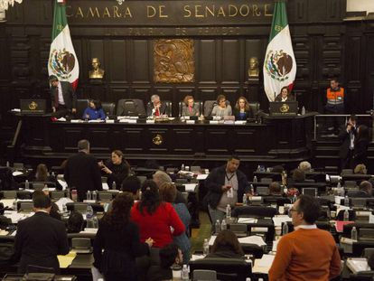 Una sesión de la Asamblea Constituyente de la Ciudad de México.