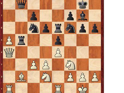 Posición tras 18 …bxa5
