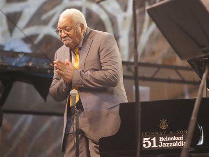 Ellis Marsalis, en el festival de jazz de San Sebastián en 2016.