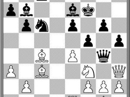 Posición tras 25 ..Dg4