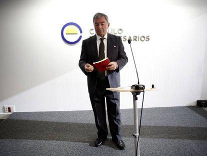Javier Vega de Seoane, presidente del Círculo de Empresarios, en marzo de 2015.