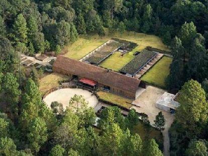 Imagen aérea del rancho Las Mesas, propiedad del ex gobernador de Veracruz Javier Duarte y confiscado por la Fiscalía
