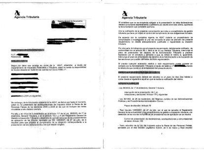 EL REQUERIMIENTO QUE EVITA PENAS. En lugar de abrir inspección, Hacienda envió este requerimiento de pago a los evasores de la 'lista Falciani'. Gracias a ello pudieron regularizar y se libraron de la condena por delito fiscal.