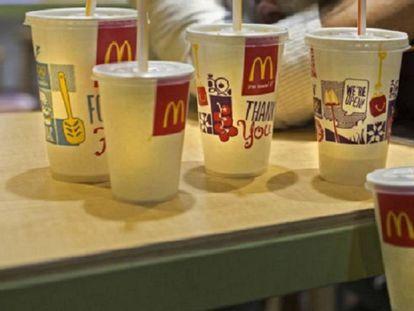 Bebidas de un McDonald's.