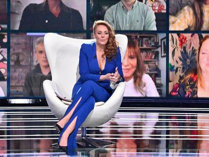 Rocío Carrasco durante la entrevista en Telecinco.