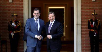 Mariano Rajoy y Enda Kenny, este jueves.