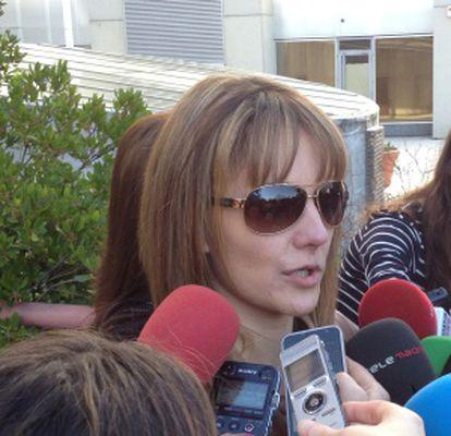 María Ángeles Ruiz González, a la salida de la Audiencia Provincial.