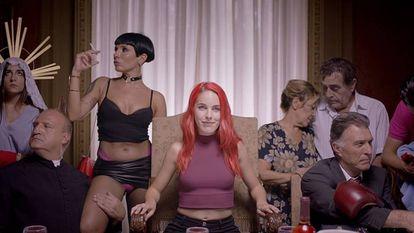 Amarna Miller en el vídeo promocional del Festival Erótico de Barcelona.