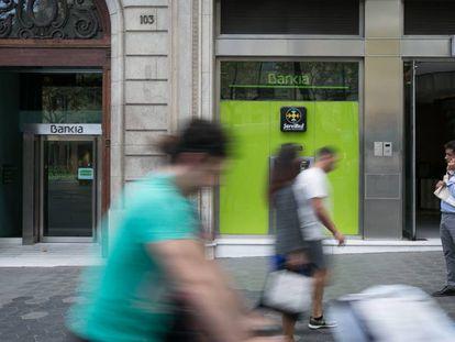 Oficina de Bankia de Barcelona donde se ha ordenado el embargo.