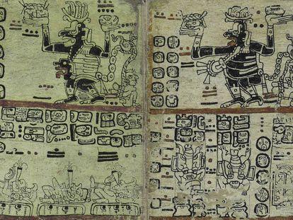 Facsímil del 'Códice Madrid', de los mayas (siglo XVI-XVII).