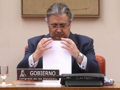 Juan Ignacio Zoido, en la comparecencia de enero en el Congreso en la que informó sobre la cárcel de Archidona.
