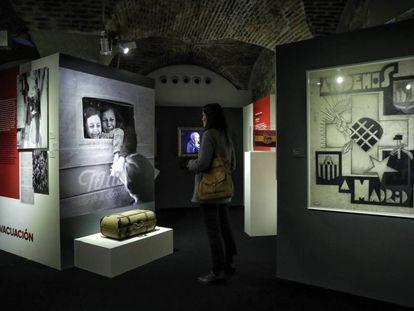Uno de los rincones de la exposición 'No pasarán', organizada por la Oficina de DDHH y Memoria.