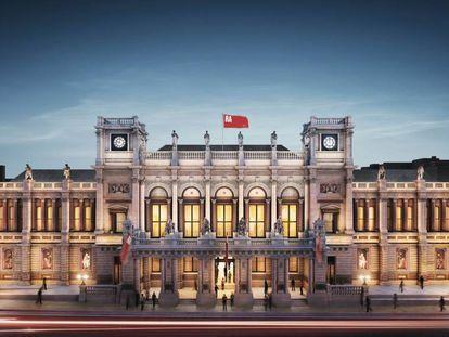 Proyecto del arquitecto David Chipperfield para la Royal Academy de Londres.