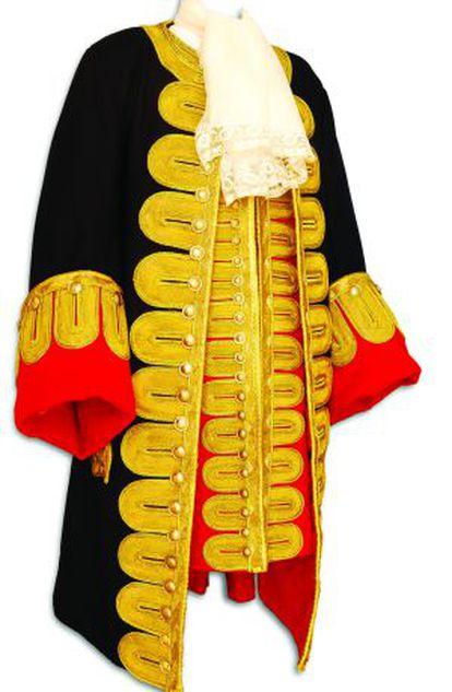 Uniforme diseñado para la exposición, en base al retrato de Blas de Lezo