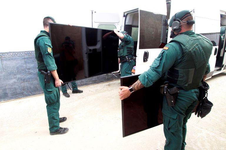 Una de las últimas operaciones antidroga realizadas en La Línea de la Concepción (Cádiz) contra las mafias del hachís el pasado 19 de septiembre.
