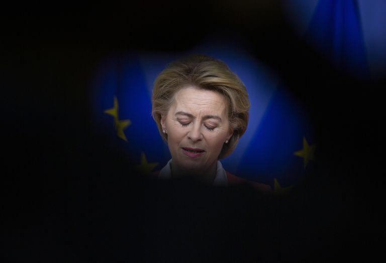 La presidenta de la Comisión Europea, Ursula von der Leyen, el 4 de marzo en Bruselas.