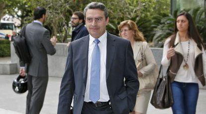 El alcalde de Cullera, Ernesto Sanjuán, este viernes en la Ciudad de la Justicia de Valencia.