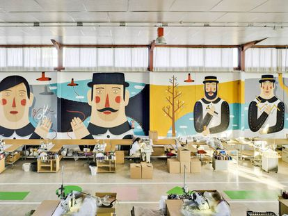 Fábrica de la firma murciana Sancal, cuyos muebles decoran desde películas de Almodóvar hasta grandes cadenas de hoteles.  