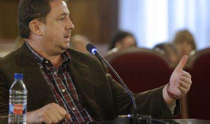 """El exasesor de Hacienda de Majadahonda José Luis Peñas durante un juicio en el """"caso Gürtel""""."""