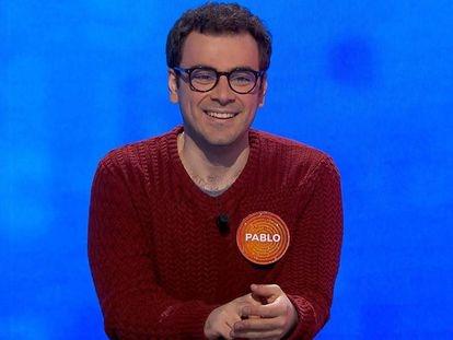 El concursante Pablo Díaz, en un instante de 'Pasapalabra'.