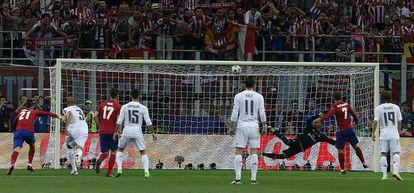 Griezmann falla el penalti en la última final de Champions.