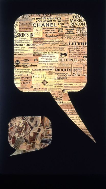 'Dialogue' (collage y pintura acrilica sobre tela, de 1967), del artista Joan Rabascall.