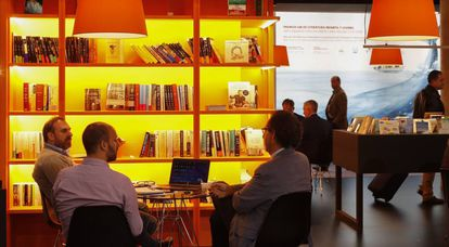 Feria internacional del libro LIBER 2016 en Barcelona.