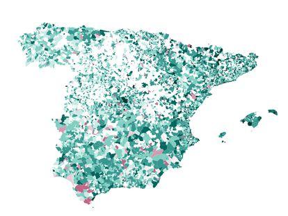Mapa | Cómo han variado las cuentas de cada municipio desde el máximo de 2012: la mitad no tenía deuda antes de la pandemia