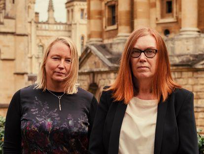 Las científicas Catherine Green y Sarah Gilbert, coautoras de la vacuna contra la covid de la Universidad de Oxford.