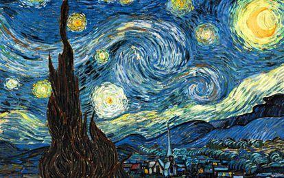 'La noche estrellada', de Vincent van Gogh, se exhibe en el MoMa (Nueva York, EE UU).