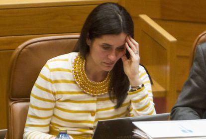 Paula Prado en su escaño en el Parlamento