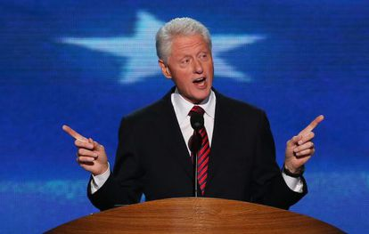 Bill Clinton durante su intervención en la Convención Demócrata
