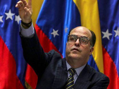 El presidente de la Asamblea Nacional (AN) de Venezuela Julio Borges.