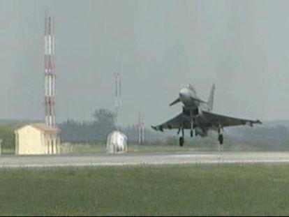 Un avión Eurofighter se estrella en Morón