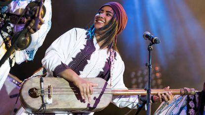 Asmaa Hamzaoui en el Festival 'Jazz Au Chellah' de Rabat.
