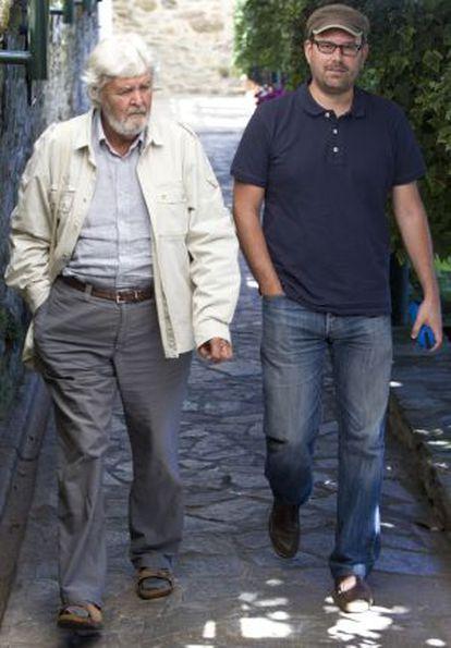 Beiras y Martiño Noriega, ayer en Santiago.