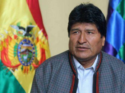 Evo Morales, durante una rueda de prensa el pasado viernes.