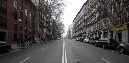 Vista de la zona de la calle de Atocha que el Ayuntamiento planea rehabilitar y reformar.