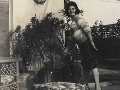 Carmen López, fotografiada en la casa de Ava Gardner en Madrid.