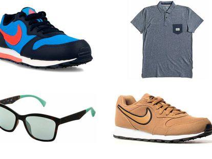 Las zapatillas Nike MD Runner 2, un polo Quiksilver y unas gafas de sol Guess, entre las ofertas de moda de eBay.