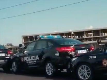 "Seis patrullas ""inteligentes"" chocan en cadena en Argentina"