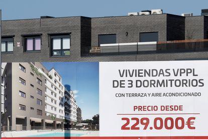 Promoción de viviendas a la venta en Madrid, esta semana.