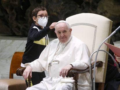 Audiencia general semanal del Papa Francisco en el Vaticano.