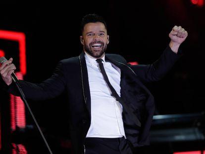 Ricky  Martin, durante un concierto en 2017.