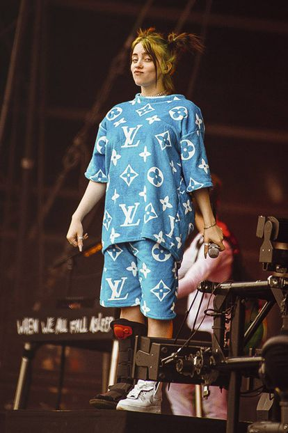 Billie Eilish, durante una performance en el festival Lollapalooza Berlin 2019.